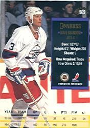 1993-94 Donruss #509 Dave Manson back image