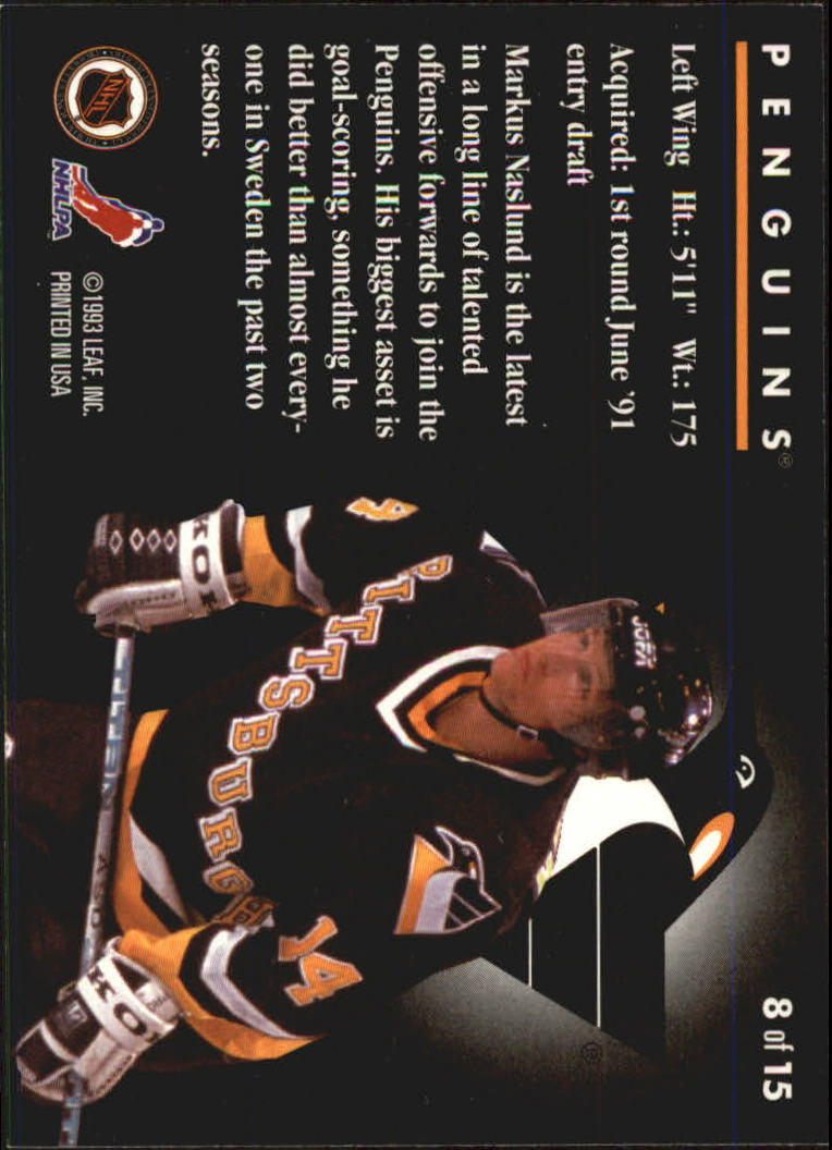 1993-94 Donruss Rated Rookies #8 Markus Naslund back image