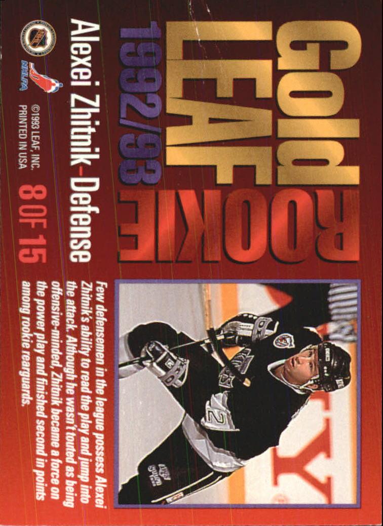 1993-94 Leaf Gold Rookies #8 Alexei Zhitnik back image