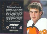 1993-94 Pinnacle Team 2001 #1 Eric Lindros back image