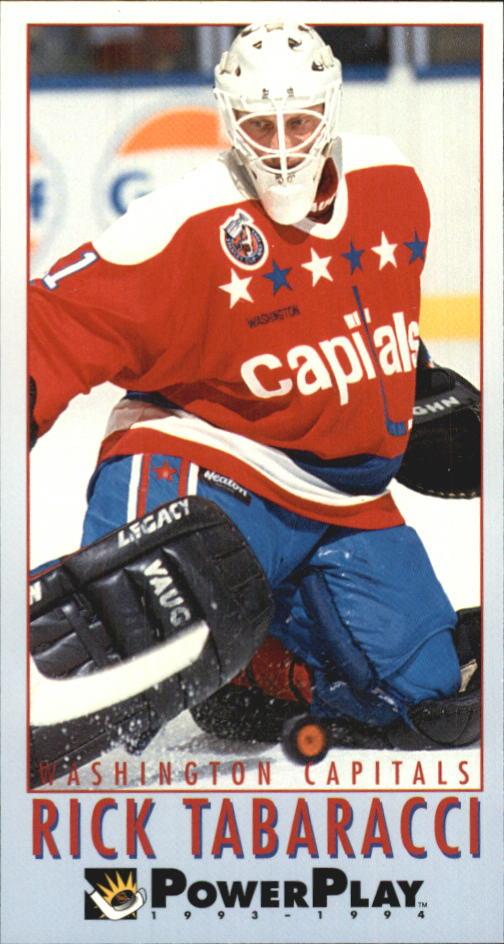 1993-94 PowerPlay Capitals Hockey Card  267 Rick Tabaracci  c30d8c3d1