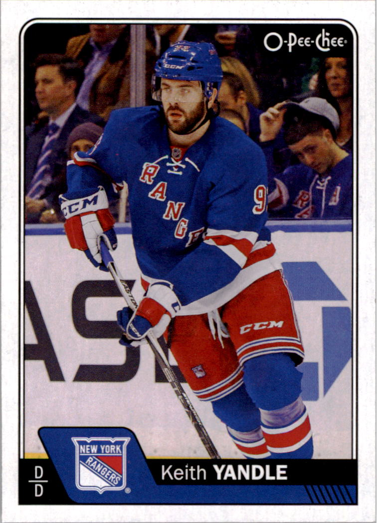 super popular 36ad0 4c973 Details about 2016-17 O-Pee-Chee Hockey #457 Keith Yandle New York Rangers