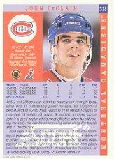 1993-94 Score #318 John LeClair back image