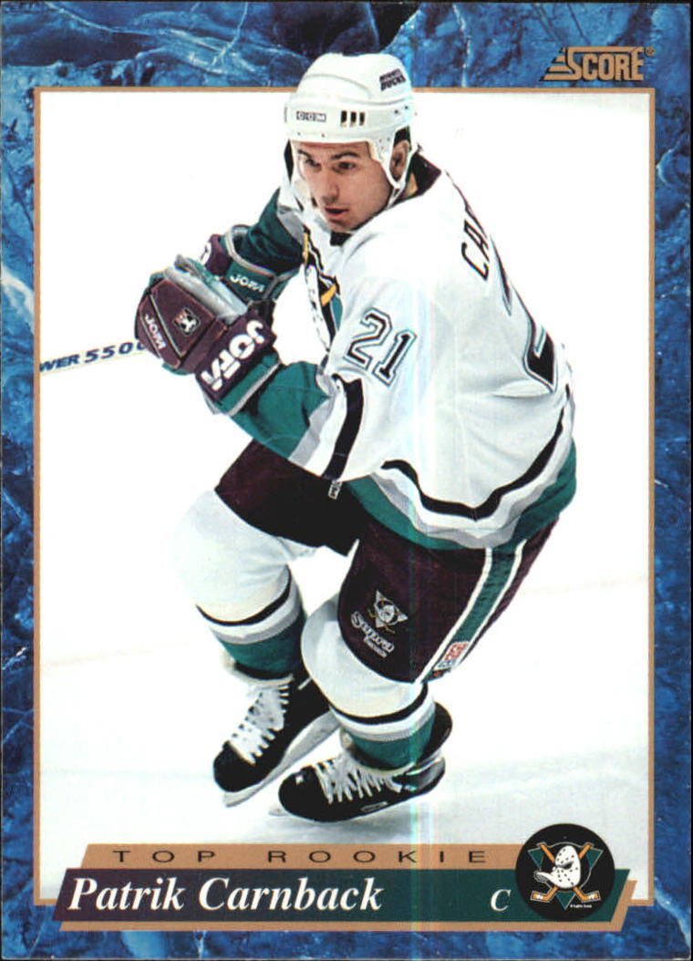 1993-94 Score #615 Patrick Carnback RC