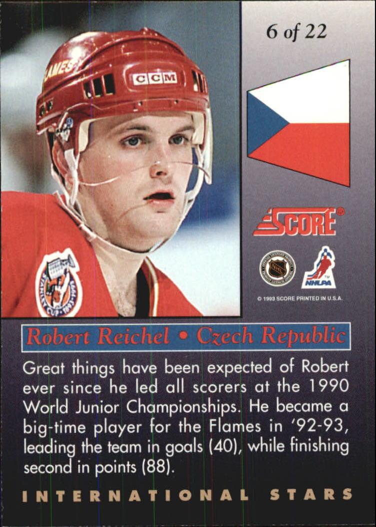 1993-94 Score International Stars #6 Robert Reichel back image