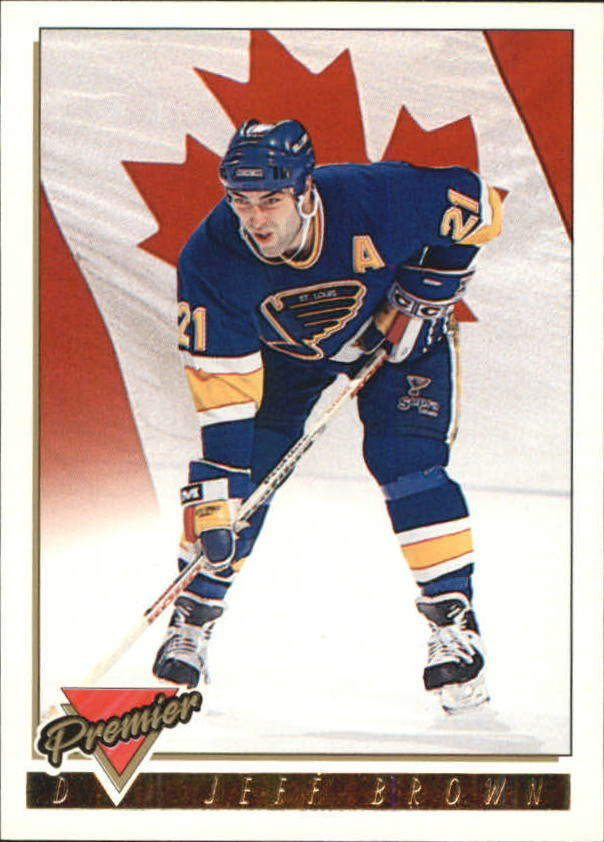 1993-94 Topps Premier Gold #381 Jeff Brown CAN