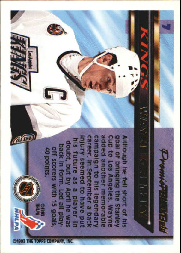 1993-94 Topps Premier Black Gold #7 Wayne Gretzky back image