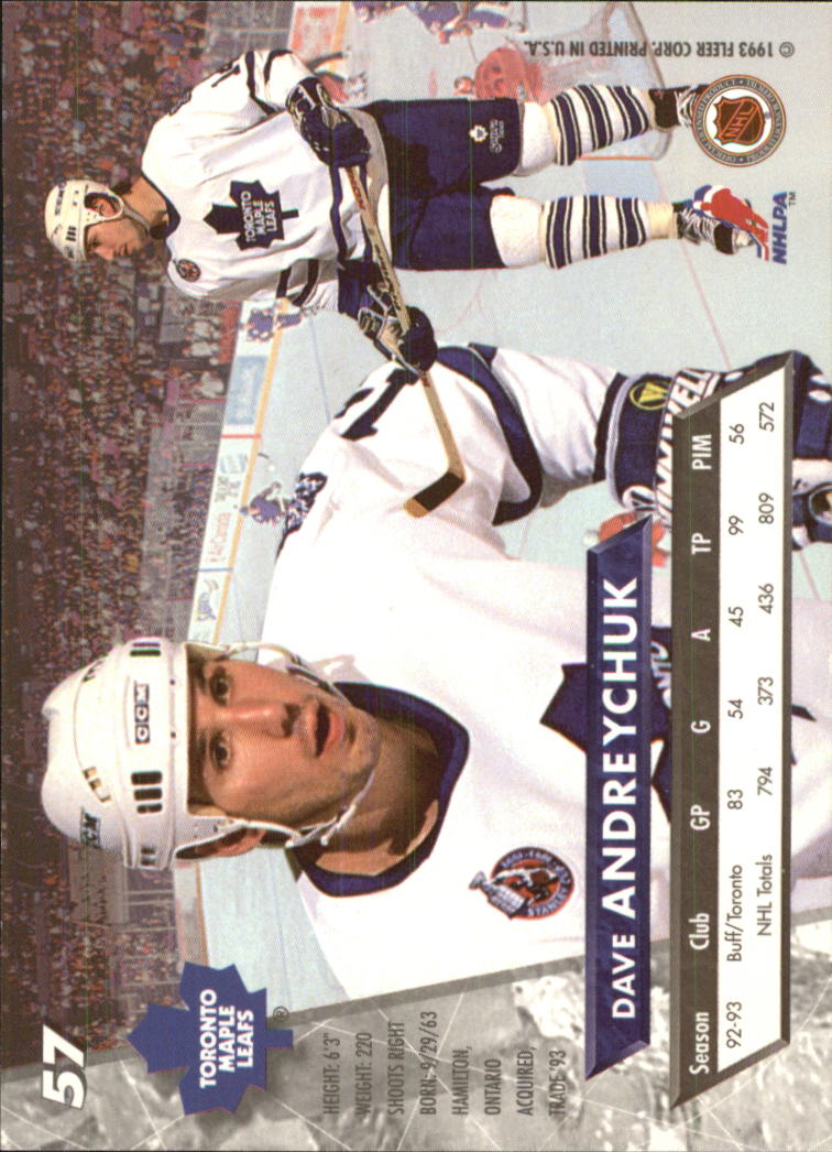 1993-94 Ultra #57 Dave Andreychuk back image