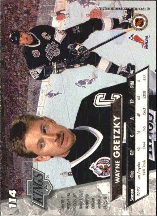 1993-94 Ultra #114 Wayne Gretzky back image