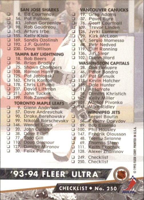 1993-94-Ultra-Hockey-1-250-Your-Choice-GOTBASEBALLCARDS thumbnail 477