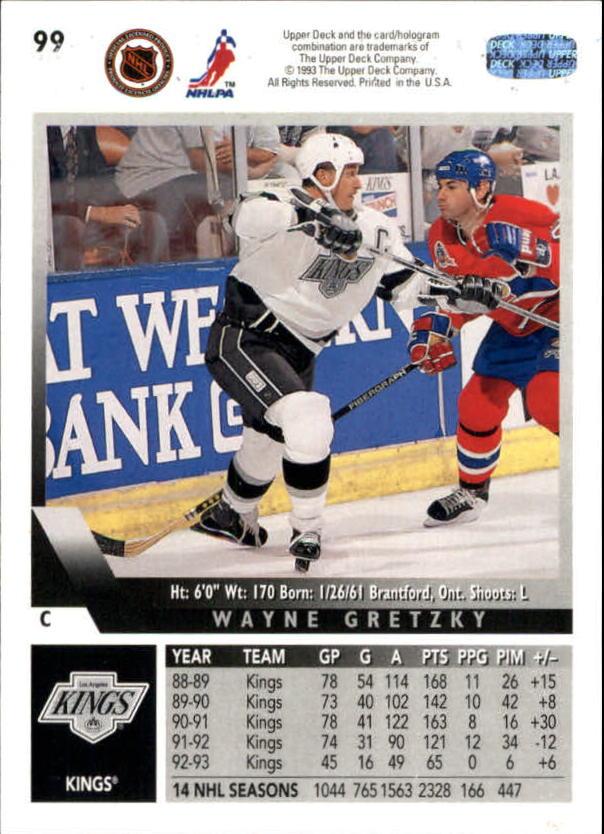 1993-94 Upper Deck #99 Wayne Gretzky back image