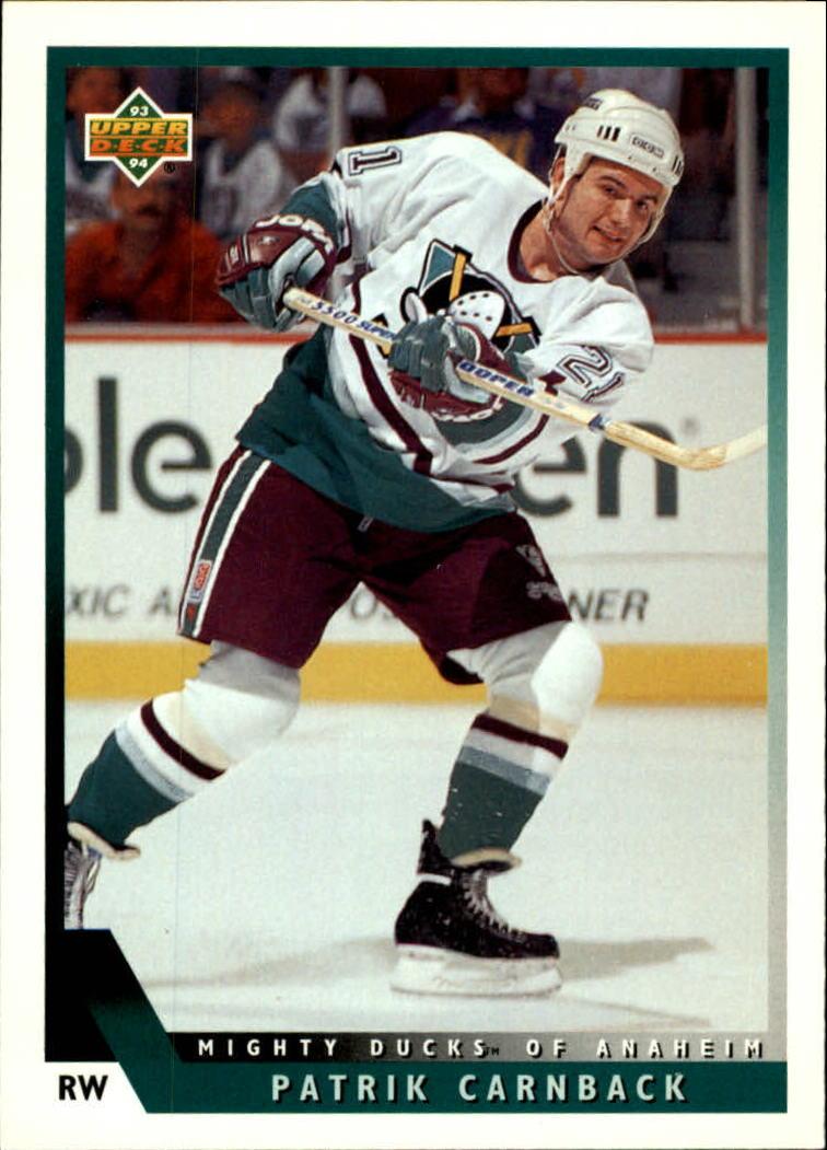 1993-94 Upper Deck #463 Patrick Carnback RC