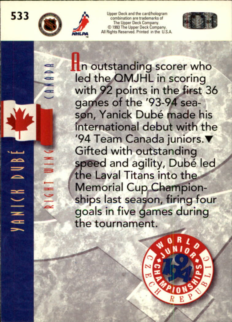 1993-94-Upper-Deck-Hk-039-s-501-575-Rookies-You-Pick-Buy-10-cards-FREE-SHIP thumbnail 67