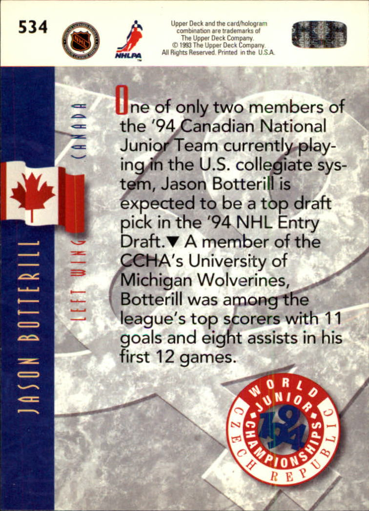 1993-94-Upper-Deck-Hk-039-s-501-575-Rookies-You-Pick-Buy-10-cards-FREE-SHIP thumbnail 69