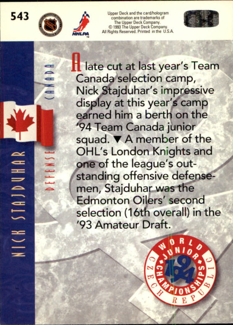 1993-94-Upper-Deck-Hk-039-s-501-575-Rookies-You-Pick-Buy-10-cards-FREE-SHIP thumbnail 87