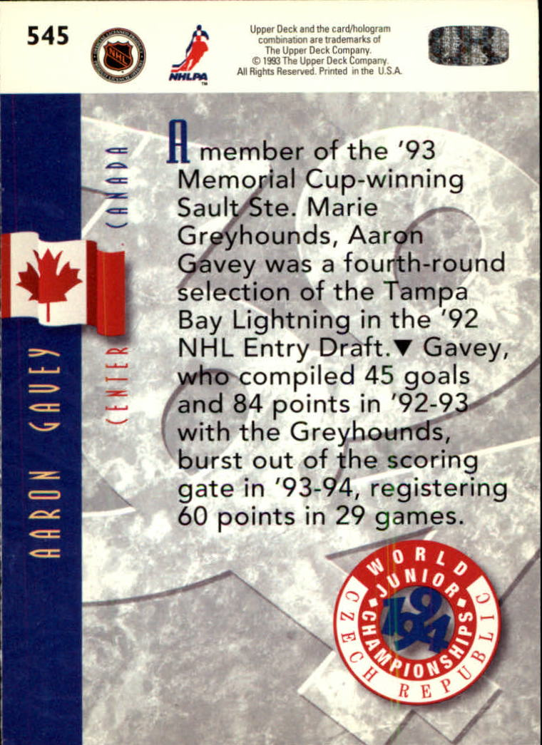 1993-94-Upper-Deck-Hk-039-s-501-575-Rookies-You-Pick-Buy-10-cards-FREE-SHIP thumbnail 91