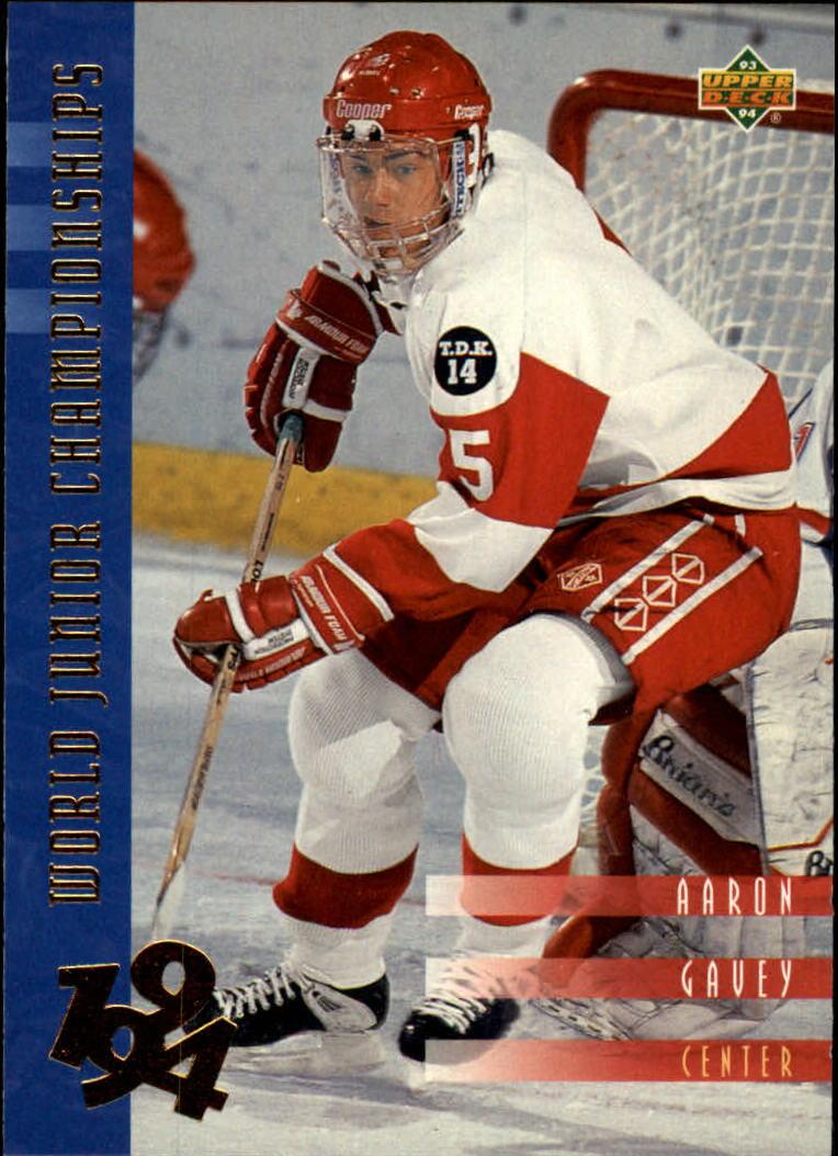 1993-94 Upper Deck #545 Aaron Gavey WJC RC