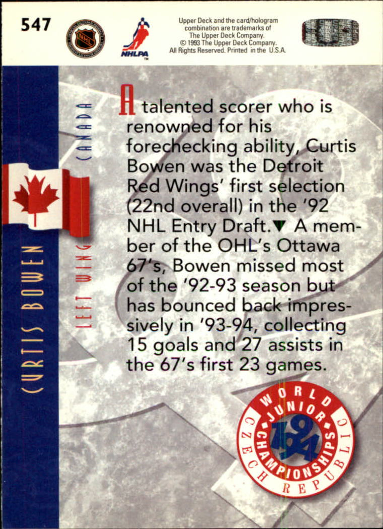 1993-94-Upper-Deck-Hk-039-s-501-575-Rookies-You-Pick-Buy-10-cards-FREE-SHIP thumbnail 95