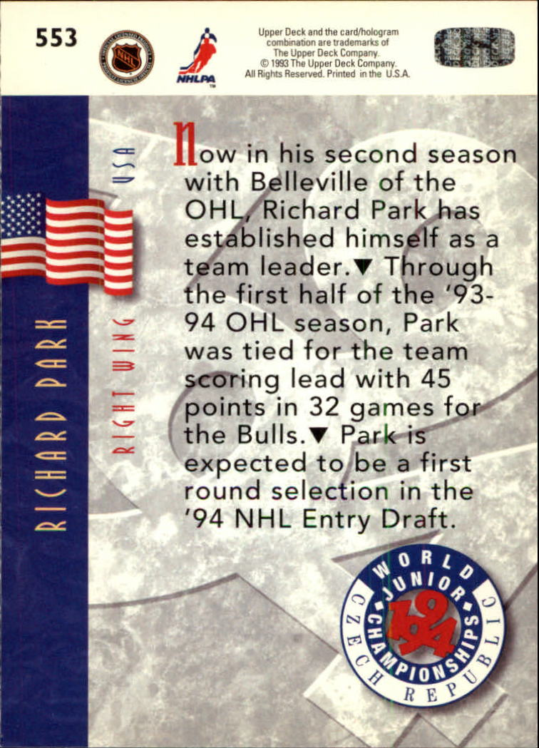 1993-94-Upper-Deck-Hk-039-s-501-575-Rookies-You-Pick-Buy-10-cards-FREE-SHIP thumbnail 107