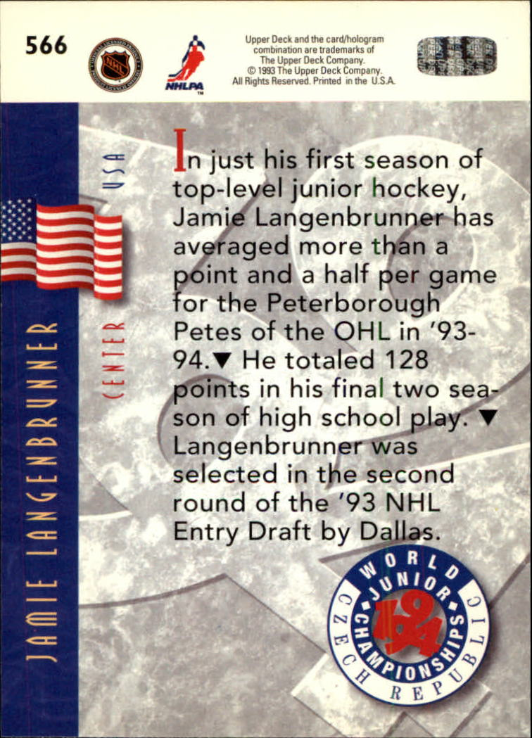 1993-94-Upper-Deck-Hk-039-s-501-575-Rookies-You-Pick-Buy-10-cards-FREE-SHIP thumbnail 133