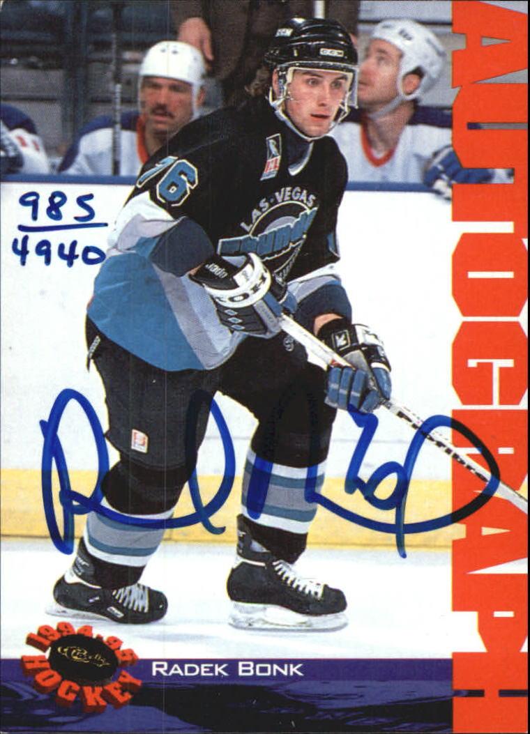 1994 Classic Autographs #3 Radek Bonk/4940