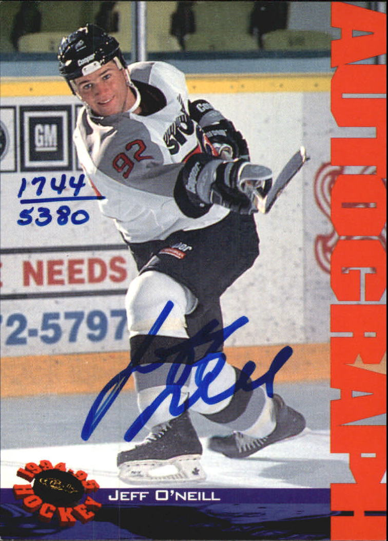 1994 Classic Autographs #5 Jeff O'Neill/5380