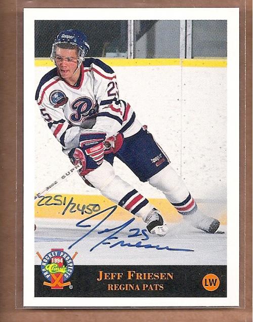 1994 Classic Pro Prospects Autographs #AU3 J.Friesen AU/2450