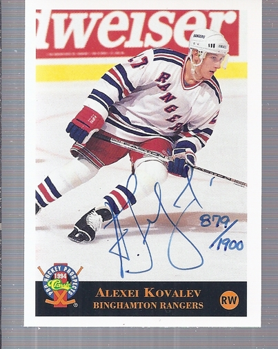1994 Classic Pro Prospects Autographs #AU5 A.Kovalev AU/1900