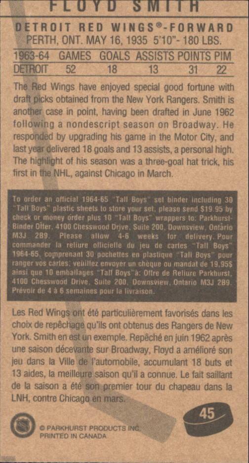 1994 Parkhurst Tall Boys #45 Floyd Smith back image