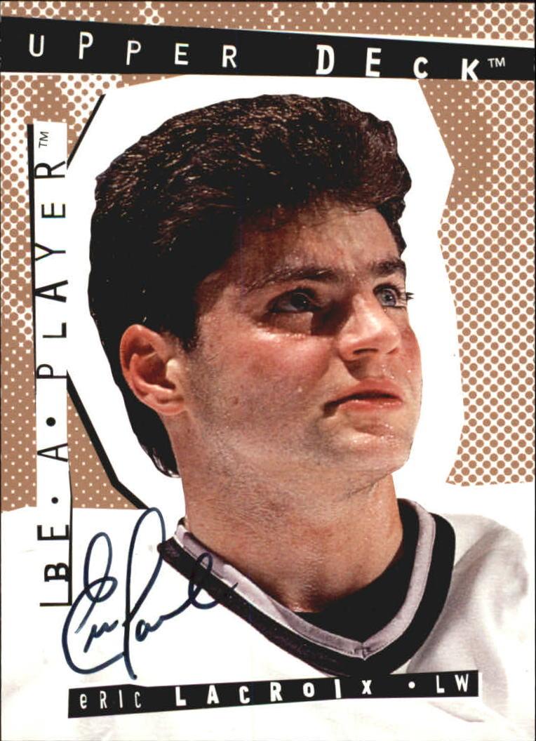 1994-95 Be A Player Autographs #13 Eric Lacroix