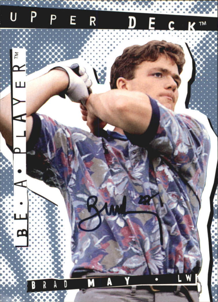 1994-95 Be A Player Autographs #22 Brad May