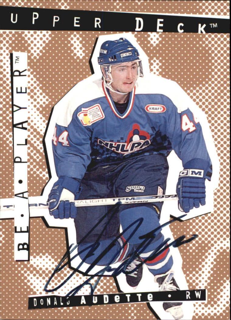 1994-95 Be A Player Autographs #31 Donald Audette