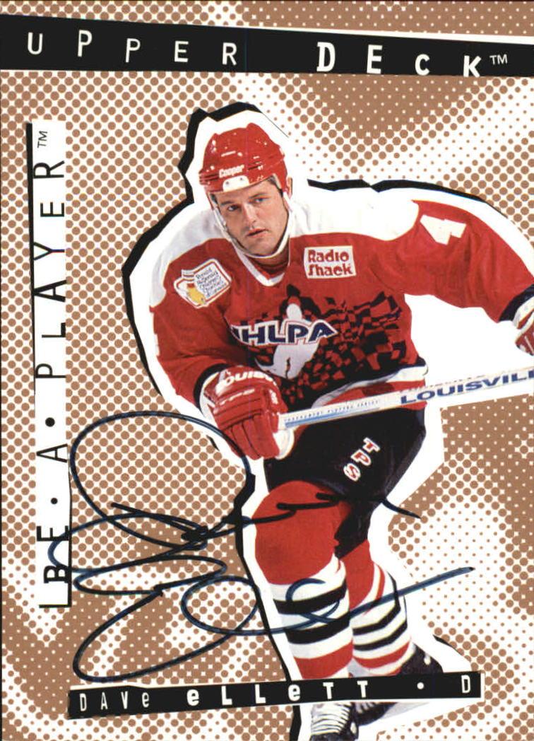 1994-95 Be A Player Autographs #65 Dave Ellett