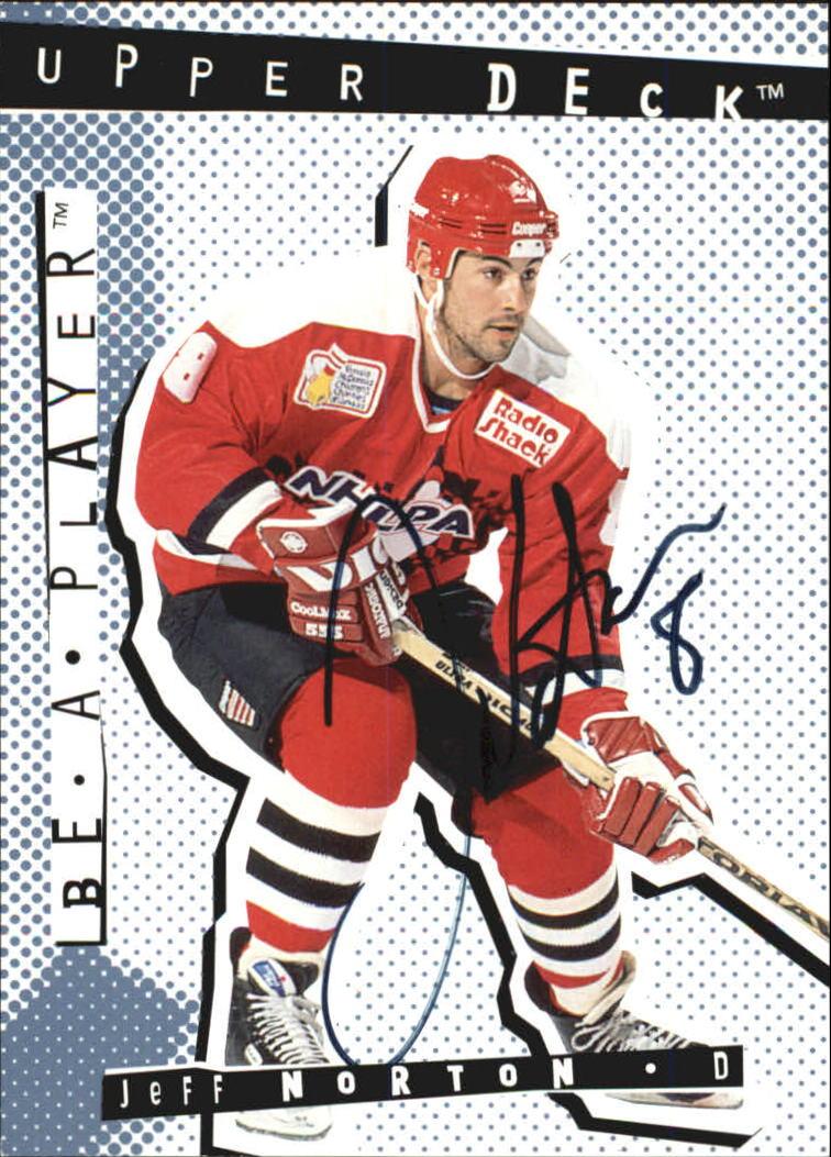 1994-95 Be A Player Autographs #90 Jeff Norton