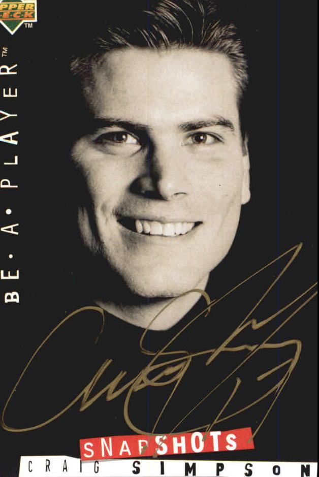 1994-95 Be A Player Autographs #122 Craig Simpson
