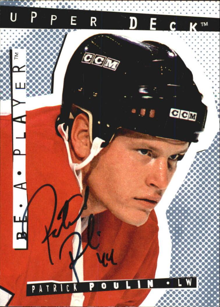 1994-95 Be A Player Autographs #168 Patrick Poulin
