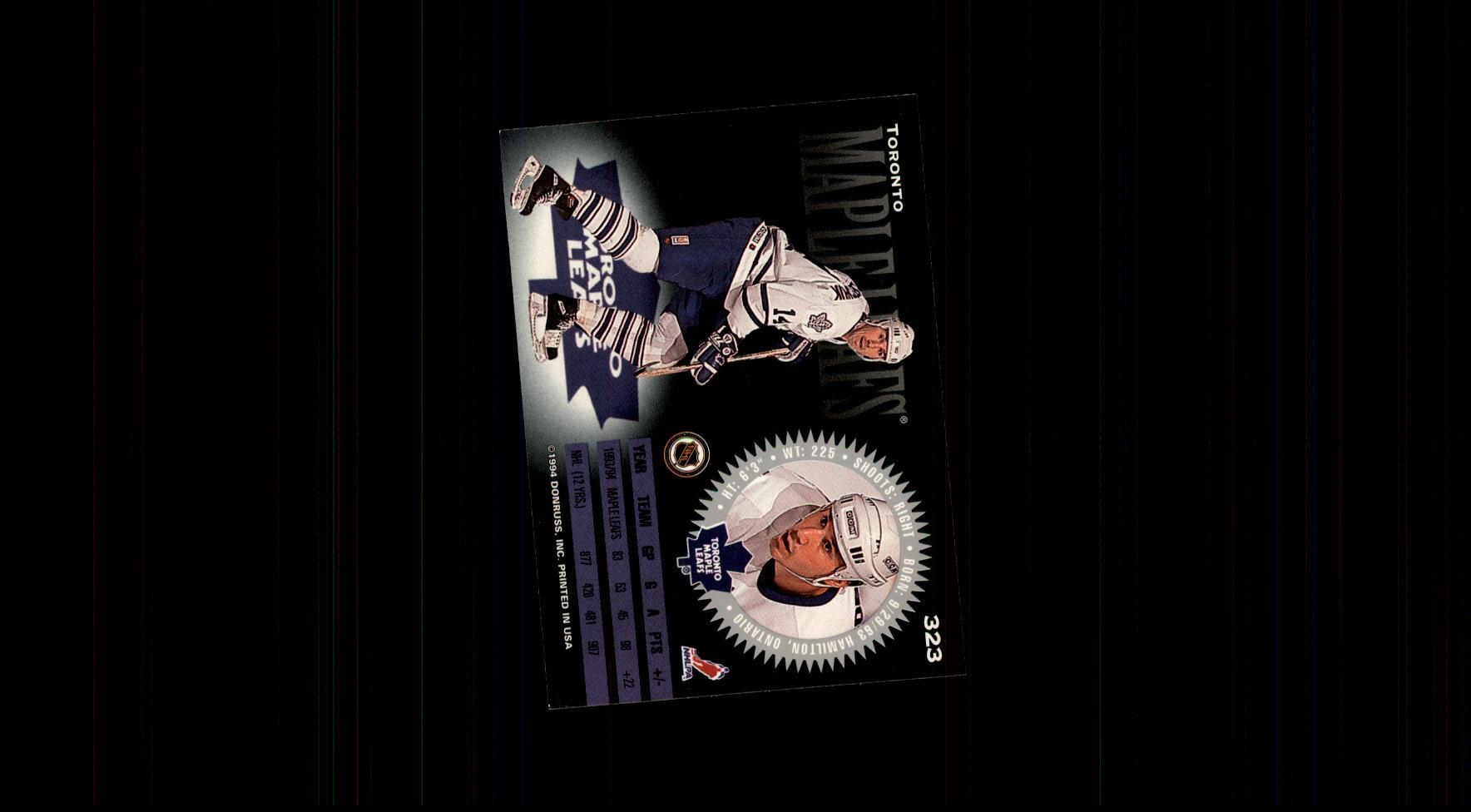 1994-95 Donruss #323 Dave Andreychuk back image