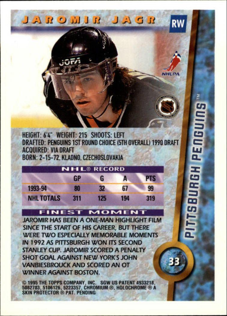 1994-95 Finest #33 Jaromir Jagr back image