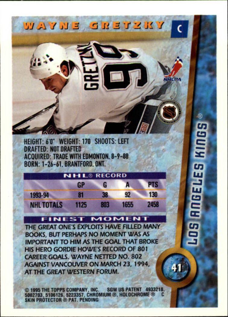 1994-95 Finest #41 Wayne Gretzky back image