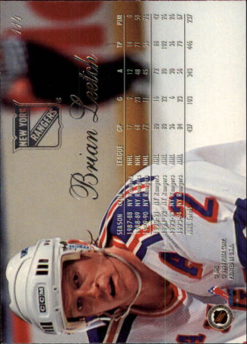 1994-95 Flair #114 Brian Leetch back image