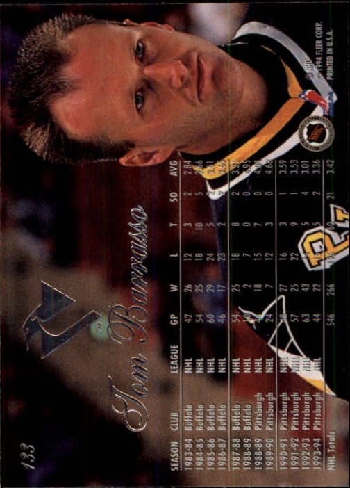 1994-95 Flair #133 Tom Barrasso back image