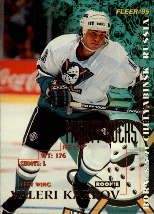 1994-95 Fleer #4 Valeri Karpov RC