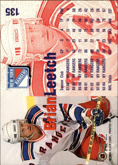 1994-95 Fleer #135 Brian Leetch back image