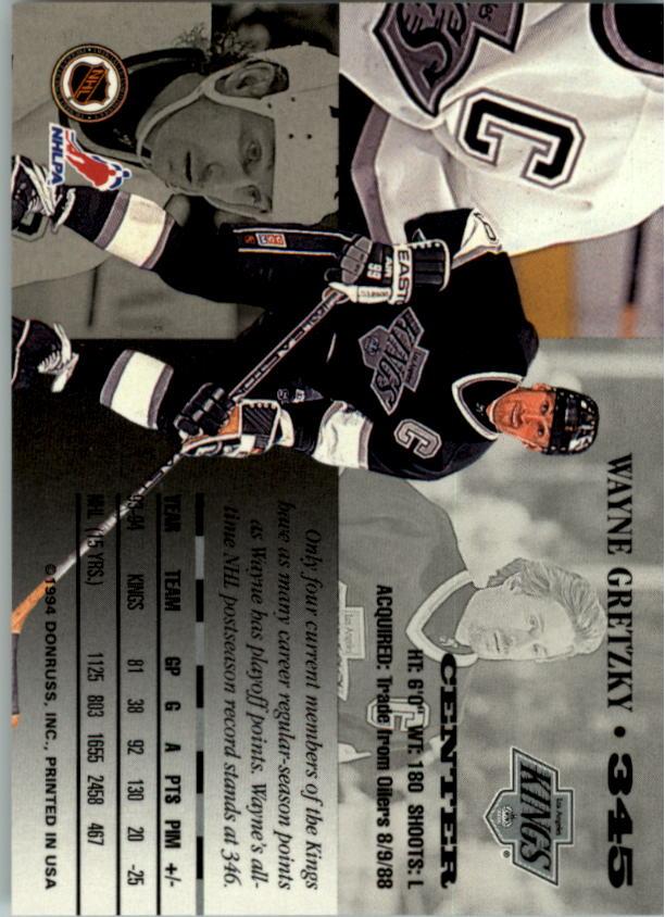 1994-95 Leaf #345 Wayne Gretzky back image