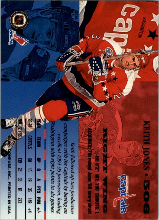 1994-95 Leaf #506 Keith Jones back image