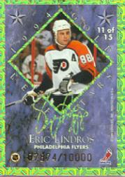 1994-95 Leaf Gold Stars #11 Mario Lemieux/Eric Lindros