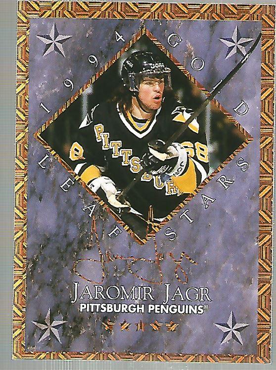 1994-95 Leaf Gold Stars #15 Jaromir Jagr/Mark Recchi