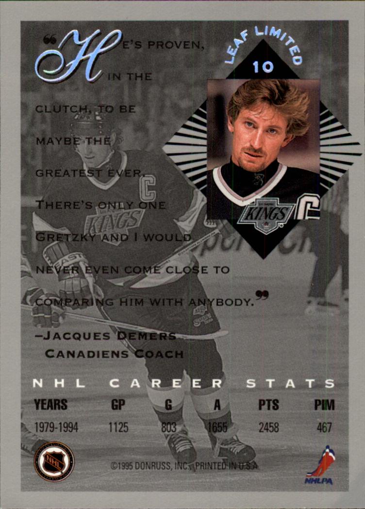 1994-95 Leaf Limited #10 Wayne Gretzky back image