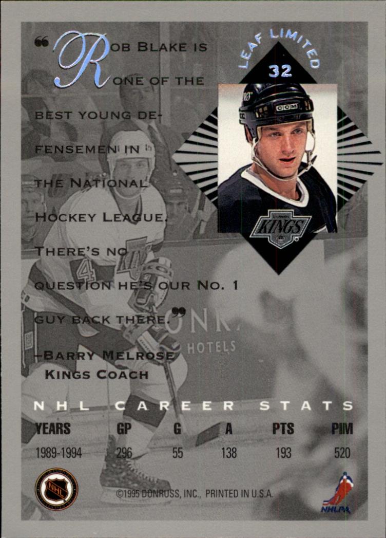 1994-95 Leaf Limited #32 Rob Blake back image