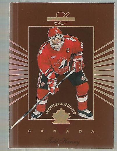 1994-95 Leaf Limited World Juniors Canada #4 Todd Harvey